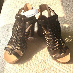 Jambu Shoes - Strappy platform sandal with Velcro ankle closure